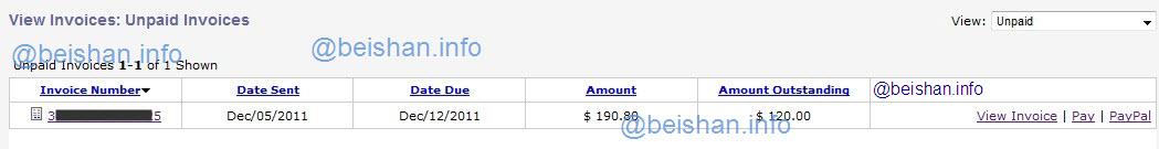 JustHost Unpaid Invoice