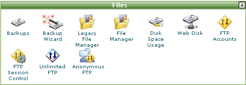 cPanel FTP帐号设置